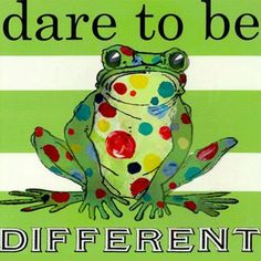 Dress up a bare wall with the Dare to Be Different Frog Canvas Wall Art from Oopsy Daisy. Canvas wall art is perfect for adding color and style to bedrooms, playrooms, nurseries and even bathrooms! Funny Frogs, Cute Frogs, Kermit, Frog Quotes, Frog Pictures, Frog Pics, Pet Pictures, Frog Illustration, Frog Art