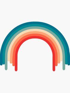 'Retro Rainbow colors ' Sticker by TheaDesign Rainbow Drawing, Rainbow Art, Rainbow Colors, Rainbow Light, Retro Color Palette, Colour Pallete, Color Combos, Rainbow Aesthetic, Aesthetic Colors