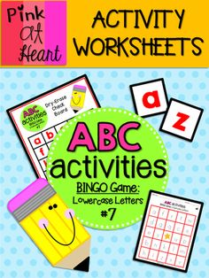 ABC Activities 7: BINGO Game - Lowercase Letters from kac2877 from kac2877 on TeachersNotebook.com (13 pages)  - PDF - 6 player Lowercase Letter BINGO game!