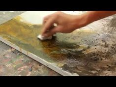 Abstraktes Malen,Spannungsrissen, Krakelee Effekt, interessante Ergebnisse.craquelure effect - YouTube