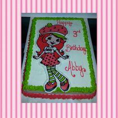 Strawberry Shortcake icing transfer birthday cake