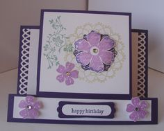 Center Step Card made by Kathie Daviau.  Details can be found at http://kathiescards.blogspot.com/2012/03/vintage-vogue-center-step-birthday.html