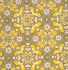 Now on sale, Grey Yellow Floral fabric, Yellow & Grey Floral Fabric at WarmBIscuit.com