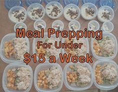 Meal prepping on a budget. Great tips!!