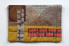 Untitled 9 - textile collage by Jen Hewett