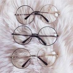 itGirl Shop TRANSPARENT CIRCLE ROUND METALLIC FRAME KOREAN CLEAR POTTER GLASSES Aesthetic Apparel, Tumblr Clothes, Soft Grunge, Pastel goth, Harajuku fashion. Korean and Japan Style looks