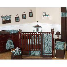 "Sweet Jojo Designs Turquoise and Brown Bella Collection 9-Piece Crib Bedding Set - Sweet JoJo Designs - Babies ""R"" Us"