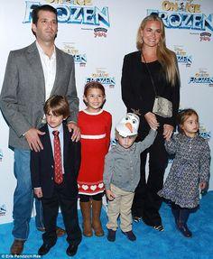 Donald Trump Jr., wife Vanessa Haydon, and children Kai Madison ...