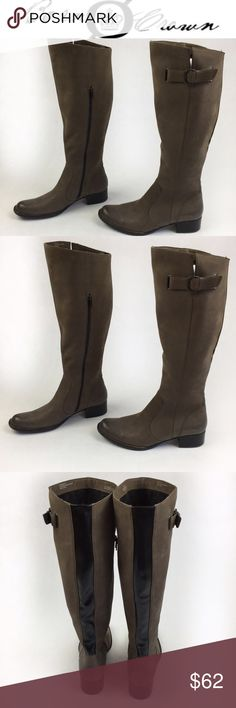 BORN CROWN BROWN LEATHER HIGH BOOTS SZ12 Luxurious Born Crown Brown suede like leather boots with Gorgeous back detail on black leather. Perfect for spring. Smell the leather and feel awesome to touch! They are brand new, never worn, no flaws. They come without a box so they might have some handling signs. Love them? Make an offer! Questions? Ask me 💖🌹😉 Born Shoes Over the Knee Boots