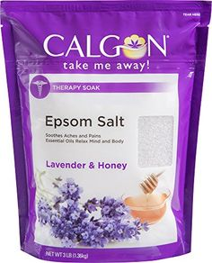 Calgon epsom salt and therapy soak (lavender and honey, 3-ounce ...
