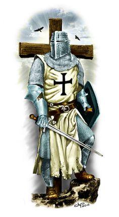 Knights Templar History, Knights Templar Symbols, Medieval Knight, Medieval Armor, Medieval Fantasy, Religious Tattoos, Religious Art, Templar Knight Tattoo, Christian Soldiers