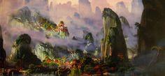 Kung Fu Panda Valley of peace - Concept Art