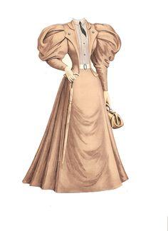 Miss Missy Paper Dolls: Boston Harold Paper doll outfits Victorian Paper Dolls, Vintage Paper Dolls, 1890s Fashion, Edwardian Fashion, Historical Costume, Historical Clothing, 1900 Clothing, Paper Fashion, Fashion Art