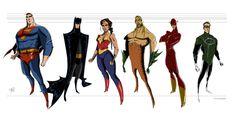 JLA - Concept Characters Design by Franco Spagnolo, via Behance