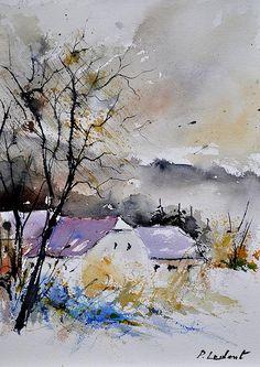 Watercolor by Pol Ledent