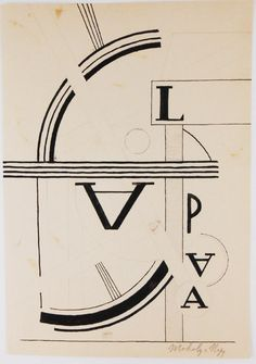 Pen and ink drawing with pencil, untitled composition, possibly a study for a larger or later work, attributed* to La. on Feb 2017 Laszlo Moholy Nagy, Feb 13, Ink Pen Drawings, Design Inspiration, Study, Abstract, Summary, Studio