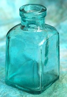 Antique Sea Glass Blue bottle