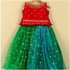 Kids lehenga To order WhatsApp on 9703713779 Kids Party Wear Dresses, Kids Dress Wear, Kids Gown, Little Girl Dresses, Girls Dresses, Kids Wear, Kids Party Wear Frocks, Baby Girl Party Dresses, Girls Frock Design