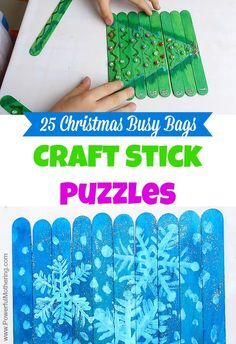 Make these simple puzzles for hours of busy bag fun this Christmas!