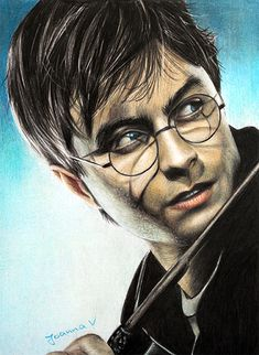 """Harry Potter"", a colored pencil drawing of Daniel Radcliffe by Joanna-Vu on DeviantArt"
