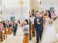 Wedding ceremony at St. Philip the Apostle Church in Saddlebrook, NJ. Captured by NYC wedding photographer Ben Lau Photography.