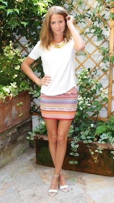 GET THE LOOK    Millie Mackintosh Top // Skirt // Shoes // Necklace