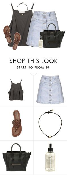 """""""these skirts are everything"""" by emmig02 ❤ liked on Polyvore featuring Topshop, Tory Burch and philosophy"""