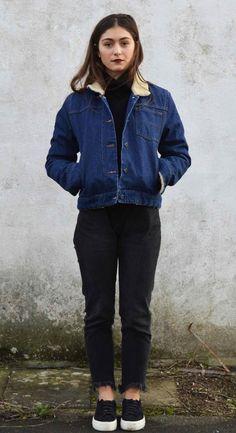 Veste en jean laine homme