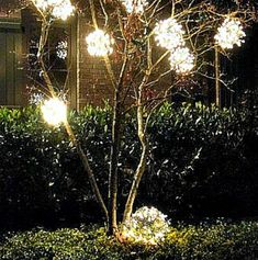 Make these easy and inexpensive DIY Outdoor Christmas Ornaments to hang in tree's or around your yard to brighten up your outdoor Christmas display