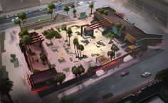 Check out these really cool skating concept images I´ve found online. Skate 3 wants to incorporate the different concepts brought out. Skate 3, Skate Park, Game Concept, Concept Art, Matte Painting, Mansions, Cool Stuff, Skateboarding, House Styles