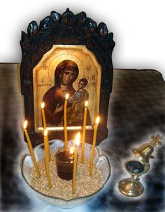 Το μυστήριο του ευχελαίου Religious Icons, Religious Art, Maria Rose, Greek Icons, Orthodox Easter, Prayer Corner, Greek Easter, Orthodox Christianity, Holy Mary