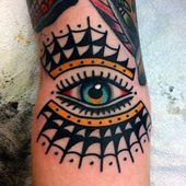 50 Traditional Eye Tattoo Designs For Men - Old School Ideas - Man Style Elbow Tattoos, Finger Tattoos, Body Art Tattoos, Sleeve Tattoos, Traditional Tattoo Eye, Traditional Ink, American Traditional, Trendy Tattoos, Tattoos For Women