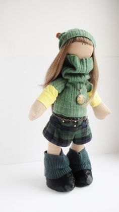The detail is just incredible! Textile handmade Doll Yvette