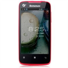 Lenovo A390T Smartphone Android 4.0 SC8825 1.0GHz Dual Core 4.0 Inch WiFi - Red