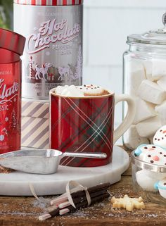"""Plaid tidings of comfort and joy… Nothing says """"the holidays are almost here!"""" like a timeless plaid print. The tartan-inspired items at Williams-Sonoma bring a bit of classic style to your table, kitchen and home."""