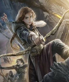grafika fantasy, girl, and archer Fantasy Warrior, Fantasy Girl, Chica Fantasy, Warrior Girl, Fantasy Rpg, Fantasy Women, Medieval Fantasy, Fantasy Princess, Warrior Women