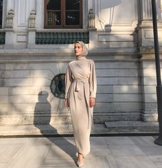 Good morning everyone🧚🏻♀️ my dress 💙A scarf is a vital portion while in the outfits of girls toget Hijab Chic, Modest Fashion Hijab, Modern Hijab Fashion, Hijab Fashion Inspiration, Islamic Fashion, Muslim Fashion, Look Fashion, Fashion Outfits, Modest Outfits Muslim