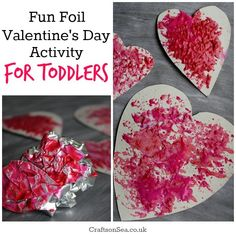 Foil Valentines Day Activity for Toddlers - Crafts on Sea