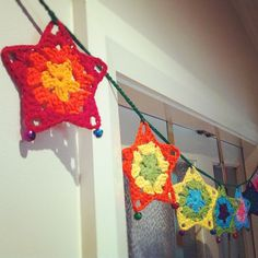 IfYouSaySo's Colourful star jingling garland