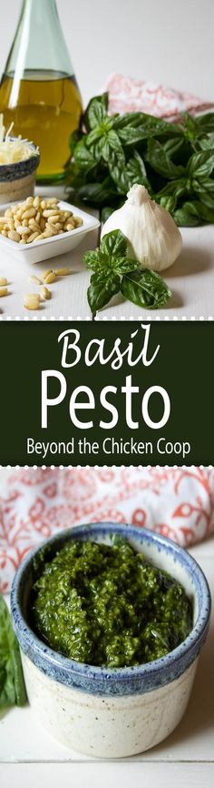 Just a handful of ingredients is all you need to make this flavorful basil pesto.
