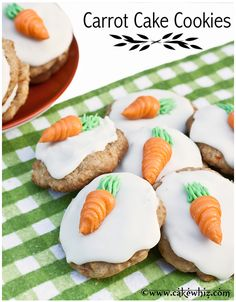 CARROT CAKE COOKIES... soft, chewy and spicy! Tastes just like a carrot cake but in a cookie form. From cakewhiz.com