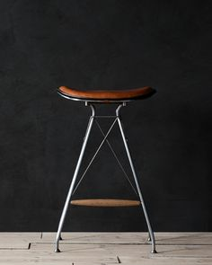 Danish furniture makers Overgaard & Dyrman launches bar stool inspired by traditional saddle making. A new bar stool that combines traditional saddle making with contemporary design has been ad… Danish Furniture, Bar Furniture, Modern Furniture, Furniture Design, Furniture Makers, Furniture Dolly, Wire Bar Stools, Leather Bar Stools, Supreme Furniture