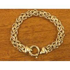 Vintage 925 Sterling Silver Byzantine Bracelet