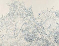 Bathometric 1    2014 Ink, Brush and ink on kozo shi paper