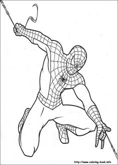 Spiderman Make His Own String Coloring Page From Category Select 28448 Printable Crafts Of Cartoons Nature Animals Bible And Many More