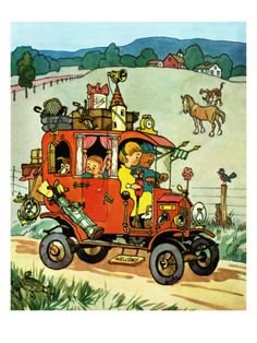 Moving Day - Jack and Jill, August 1956 Giclee Print