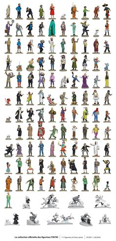 Liste officielle des figurines Tintin TF 1 merci à Tintin.com
