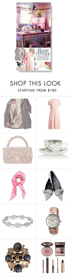 """""""Vintage"""" by sue-mes ❤ liked on Polyvore featuring Gucci, HVN, Chanel, Hermès, Louis Vuitton, Charlotte Tilbury and vintage"""