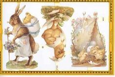 Vintage Easter, Vintage Cards, Decoupage, Easter Bunny, Scrap, Gift Wrapping, Printables, Bunnies, Gifts