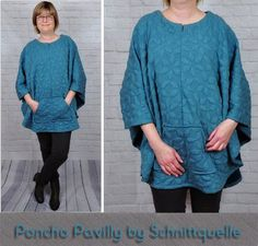 Schnittmuster/Pattern Poncho Pavilly http://www.schnittquelle.de/schnittmuster/schnittmusteraccessoires/schnittmuster-poncho-pavilly-2194.html